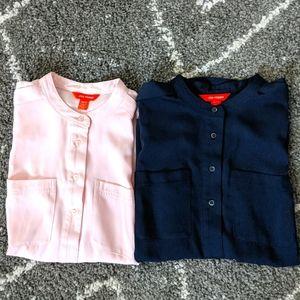 ⚡3/$20⚡2 lot sleeveless shirts EUC-sz: XS